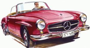 Die Werbegeschichte des Mercedes-Benz SL
