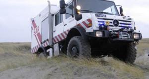 Unimog U 4000 zur Rettung aus Seenot in Dänemark