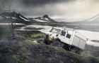 Der Unimog U 4000 im isländischen Hochland