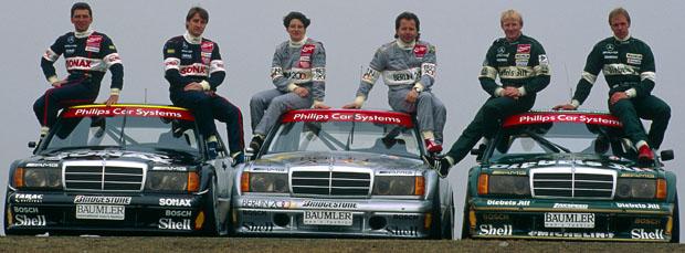DTM, Fotoshooting Mercedes-DTM-Fahrer, Hockenheimring, 23.03.1993