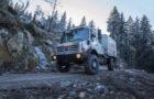 Hochgeländegängiger Unimog für die Bergwacht im Schwarzwald