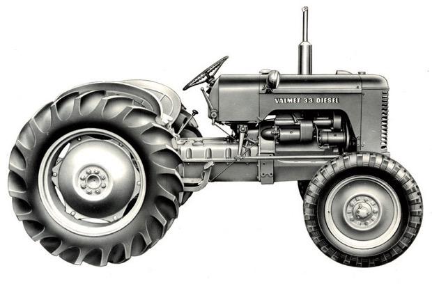 Valmet 33 Diesel mit 37 PS ab November 1956.